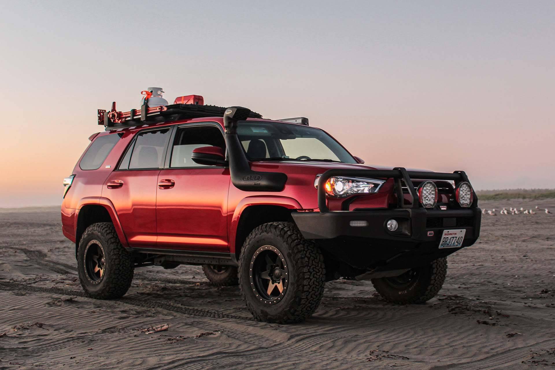 Toyota 4Runner at the beach