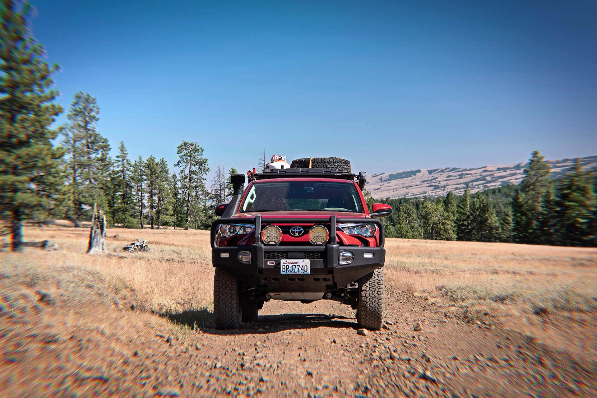 Toyota 4Runner at REd Bald Mountain on dirt road