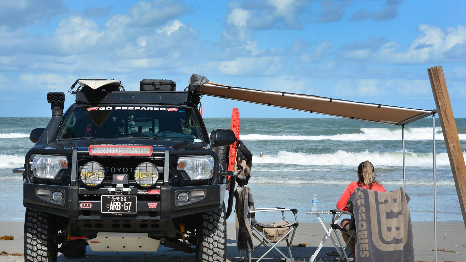 Guillermo Gutierrez Vehicle on Beach