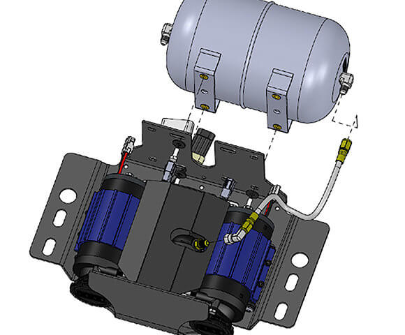 ARB USA | On-Board Air Compressors Air Inflator Motor Wiring Diagram on