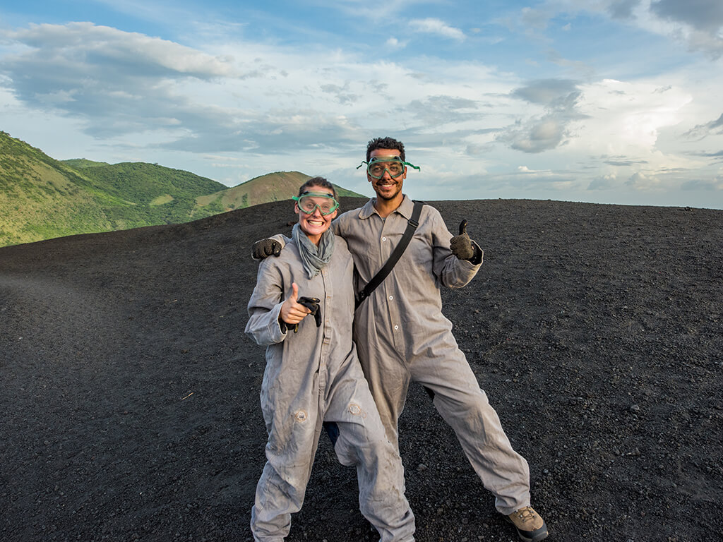Sliding-down-a-Volcano-Nicaragua